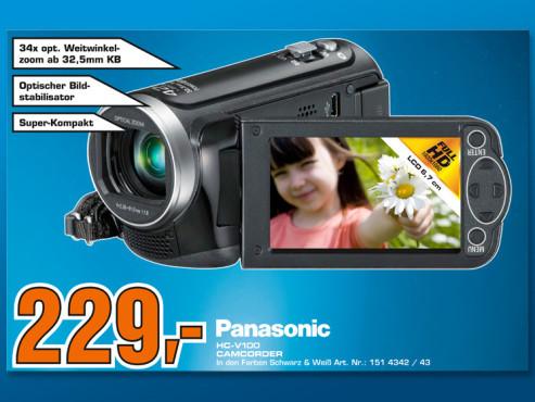 Panasonic HC-V100 Camcorder ©COMPUTER BILD