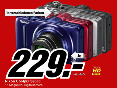 Nikon COOLPIX S9300 ©Media Markt