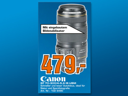 Canon EF 70-300mm f4.0-5.6 IS USM ©Saturn