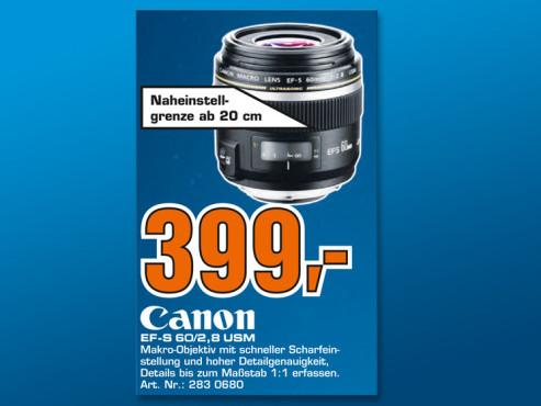 Canon EF-S 60mm f2.8 Makro USM ©Saturn