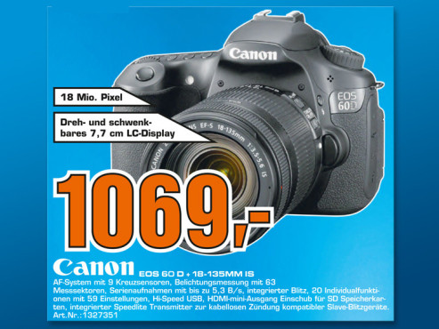 Canon EOS 60D Kit 18-135 mm ©Saturn
