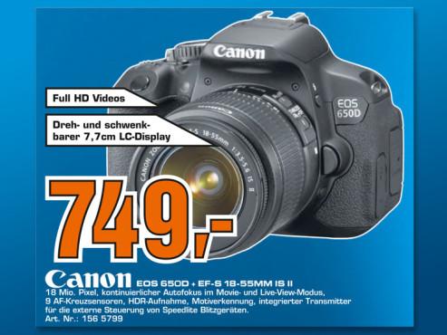 Canon EOS 650D Kit 18-55 mm ©Saturn