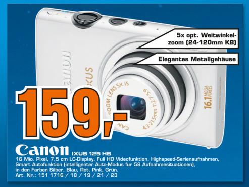 Canon IXUS 125 HS ©Saturn