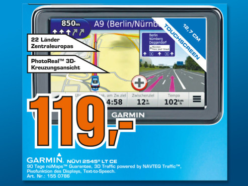 Garmin nüvi 2545 LT Central Europe © Saturn
