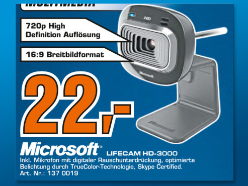 Microsoft LifeCam HD-3000 © Saturn
