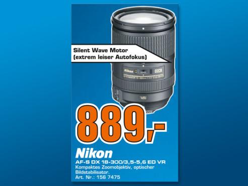 Nikon AF-S DX Nikkor 18-300mm 3.5-5.6 G ED VR ©Saturn