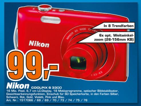 Nikon COOLPIX S3300 ©Saturn