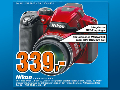 Nikon Coolpix P510 © Saturn