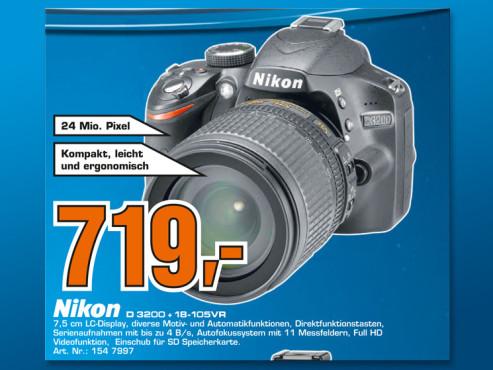 Nikon D3200 Kit 18-105 mm ©Saturn
