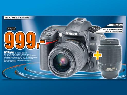 Nikon D7000 Kit 18-55 mm + 55-200 mm ©Saturn