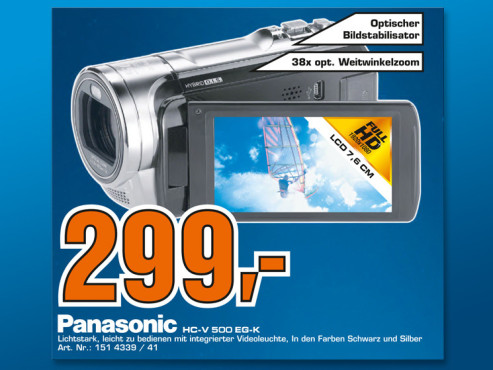 Panasonic HC-V500 © Saturn
