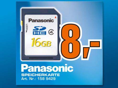 Panasonic SDHC Card Silver 16 GB Class 4 ©Saturn