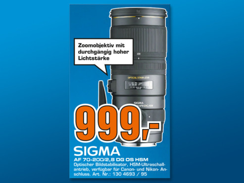 Sigma 70-200mm f2.8 EX DG APO OS HSM [Nikon] ©Saturn
