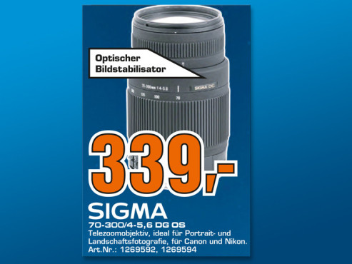Sigma 70-300mm f4.0-5.6 DG OS [Sigma] © Saturn