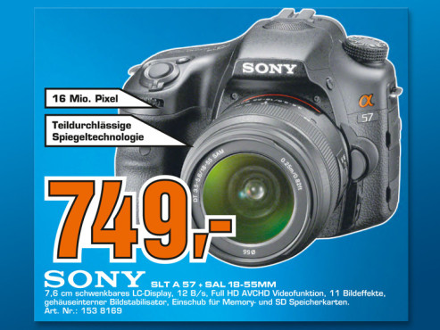 Sony Alpha 57 Kit 18-55 mm (SLT-A57VK) © Saturn