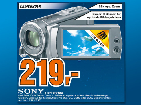Sony HDR-CX190E © Saturn