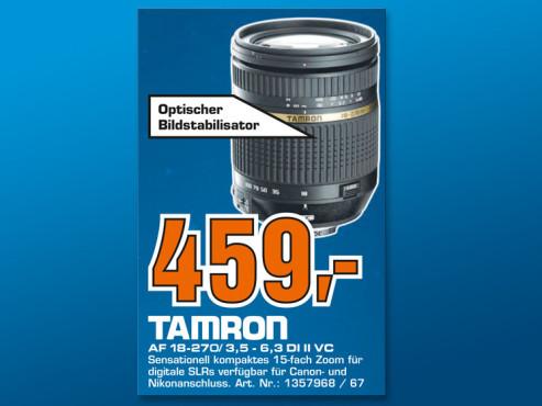 Tamron AF 18-270mm f3.5-6.3 Di II VC PZD ©Saturn