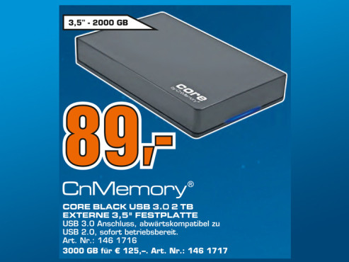 CnMemory 2.5 Core USB 3.0 1TB © Saturn