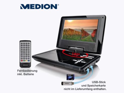 Medion Life P72018 (MD 83960) tragbarer DVD-Player (erhältlich bei Aldi Nord) ©Aldi Nord
