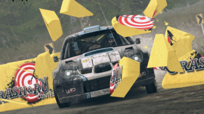 Rennspiel WRC 3 – World Rally Championship: Crash © Namco Bandai
