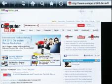 Anzeige Internet Samsung UE40ES5700 ©COMPUTER BILD