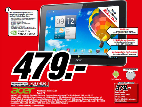 Acer Iconia Tab A511 ©Media Markt