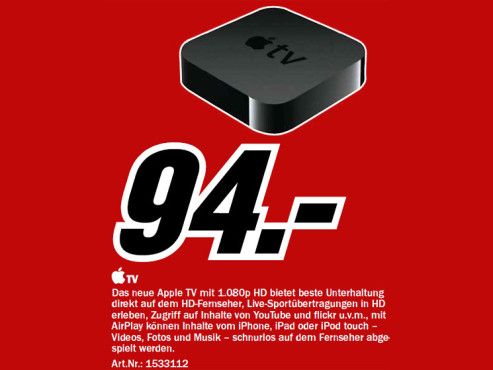 Apple TV (Dritte Generation) © Media Markt