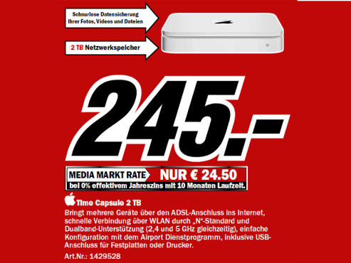 Apple Time Capsule 2TB © Media Markt