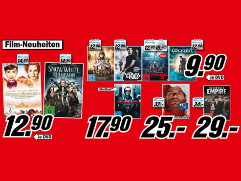 Film-DVDs und -Blu-rays © Media Markt