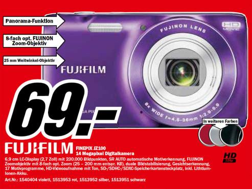 Fujifilm FinePix JZ100 ©Media Markt