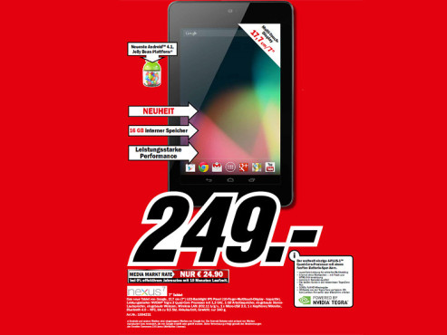 Google Nexus 7 © Media Markt