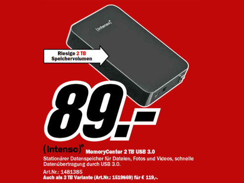 Intenso Memory Center 2TB © Media Markt