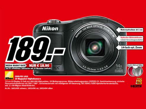 Nikon COOLPIX L610 ©Media Markt
