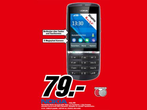 Nokia Asha 300 ©Media Markt