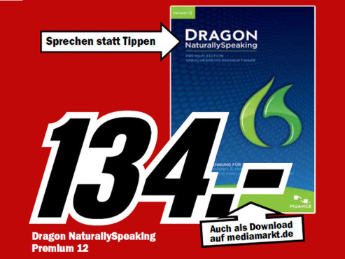 Nuance Dragon Naturally Speaking 12 Premium © Media Markt