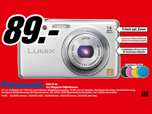 Panasonic Lumix DMC-FS40 © Media Markt