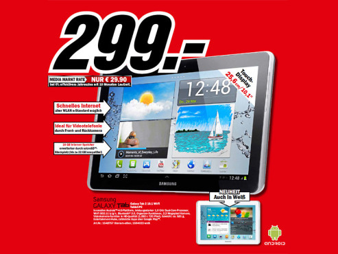 Samsung Galaxy Tab 2 (10.1) © Media Markt