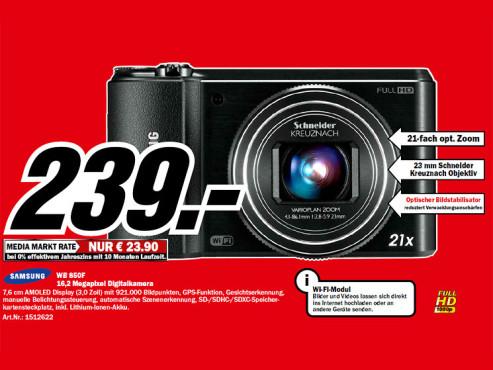 Samsung WB850F ©Media Markt