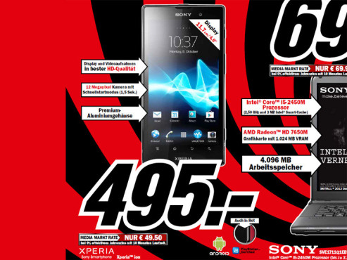 Sony Xperia ion © Media Markt