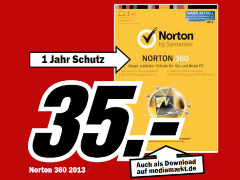 Symantec Norton 360 2013 © Media Markt