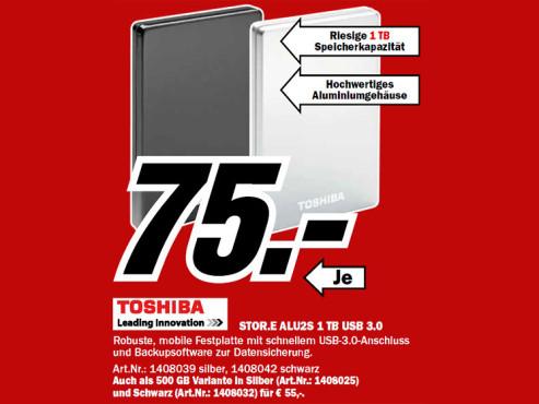 Toshiba StorE Alu 2S 1TB 3.5 ©Media Markt