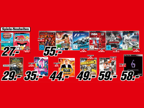 Videospiel-Neuheiten ©Media Markt