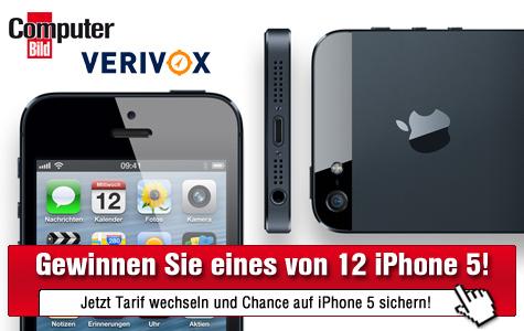 iPhone 5 gewinnen ©Apple, Verivox, COMPUTER BILD