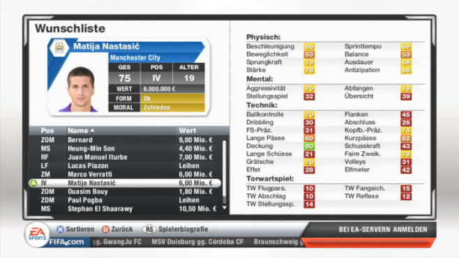 Fifa 13: Nastasic © Electronic Arts
