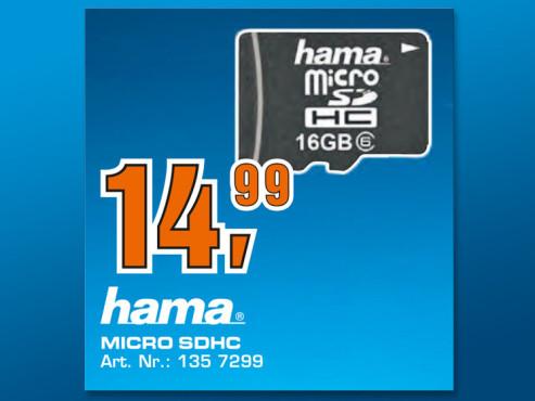 Hama microSDHC Card 16 GB Class 10 ©Saturn