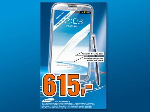 Samsung Galaxy Note 2 ©Saturn