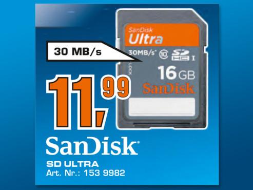 SanDisk SD-Ultra 16 GB ©Saturn