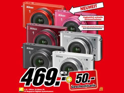 Nikon 1 J2 Kit mit 10-30-mm ©Media Markt