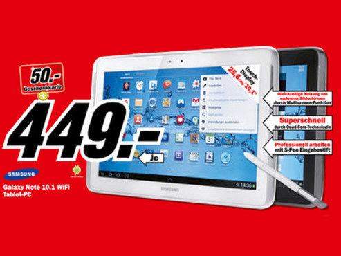 Samsung Galaxy Note 10.1 WiFi © Media Markt