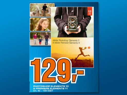 Adobe Photoshop Elements 11 + Premiere Elements 11 (Win/Mac) (DE) ©Saturn